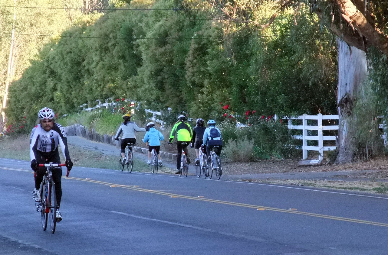 Syl heading to our ride, 5 women heading away