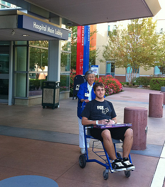 Kevin leaving Kaiser after surgery