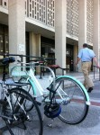Bike rack in front of Redwood City courthouse