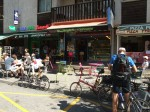No problem finding places to eat in Bourg d'Oison! This is a town full of shops as well as a great bicycle shop (Cycles et Sport)