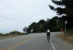 Turning onto Highway 1 for the run south to Gazos Creek. How far? We