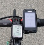 The Garmin Edge 800 displaying its turn-by-turn directions yet again