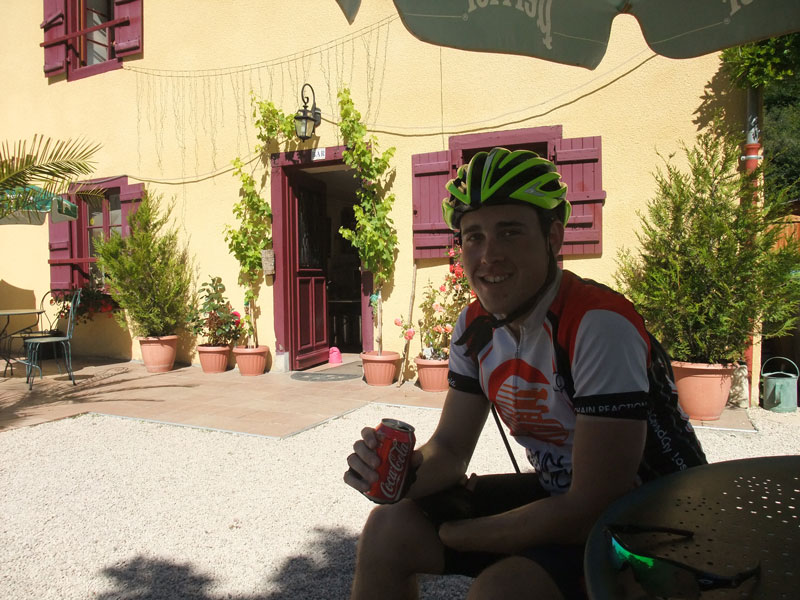 One of many cokes along the way. On a hard ride, worth every penny, or rather euro. Typically 2.50 euros.