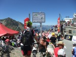 Arriving at the top of the Tourmalet. Quite a scene.