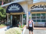 Emily's Cafe in Santa Cruz. Cook bike wind thingee out front.