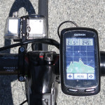 Garmin computer giving elevation profile on Cloverdale Road