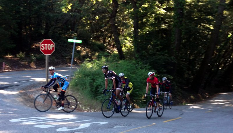 "The ""peloton"" hitting the top"