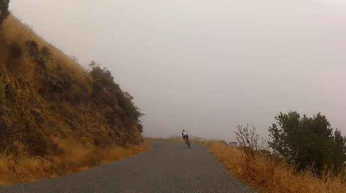 Looks like the edge of the world on West Old LaHonda today!