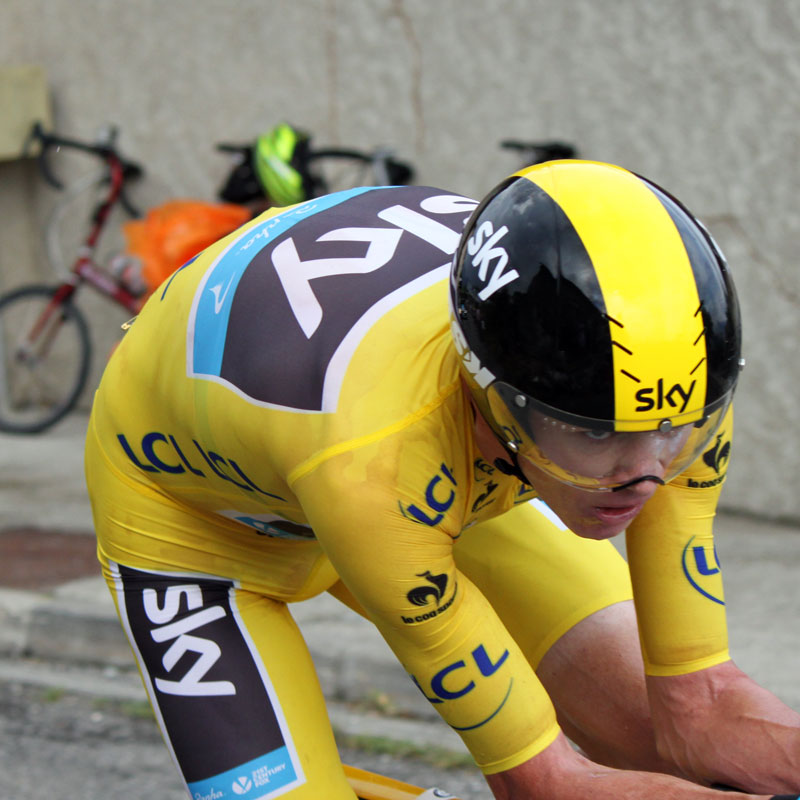 Chris Froome in the second TT, finally looking at ease on his bike