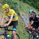 Chris Froome not looking like a TdF winner on the Madeleine
