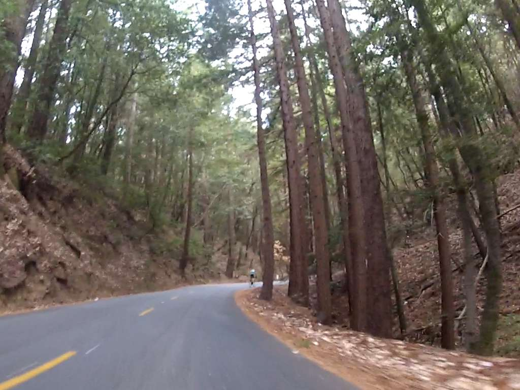Just past halfway hairpin, 14:51.