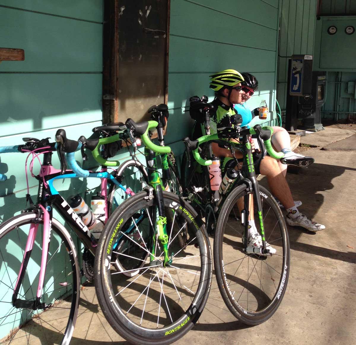 Bikes taking a break at Sky Londa