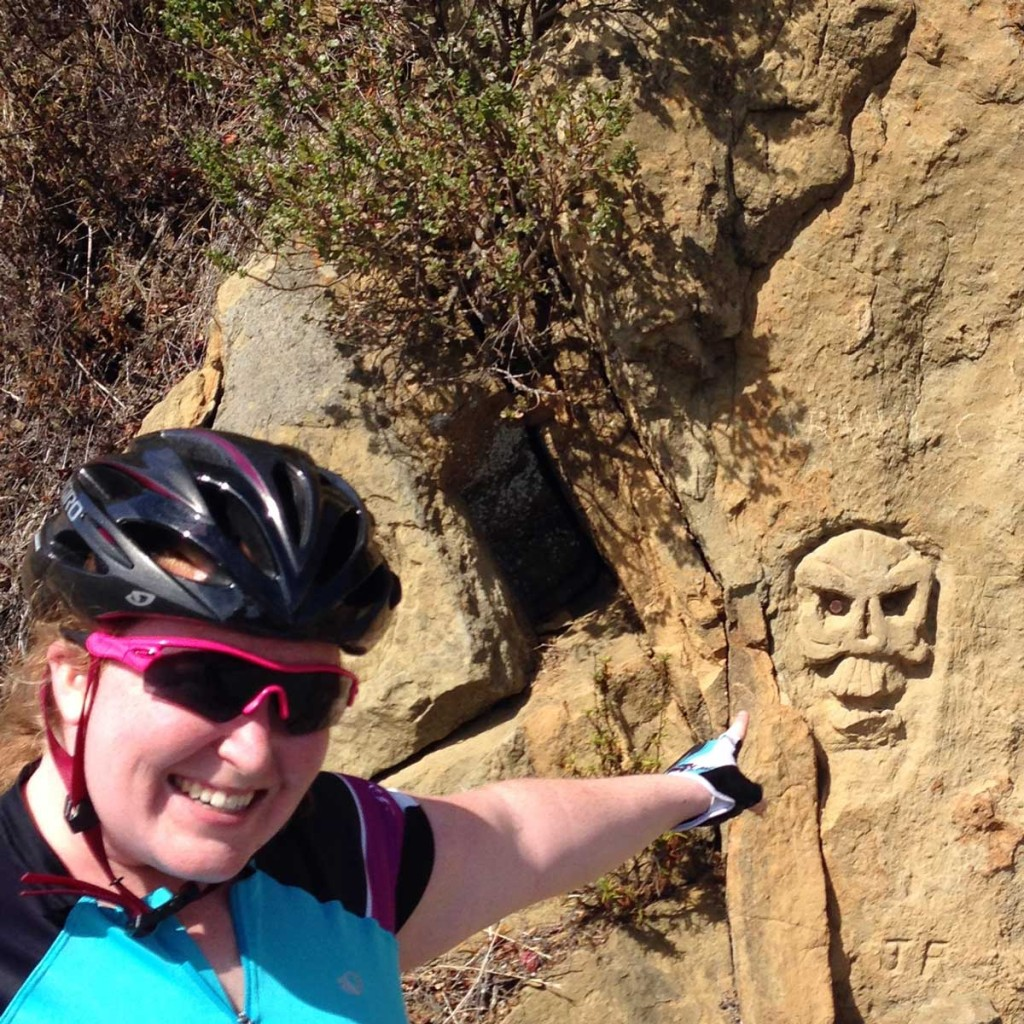 Becky discovers the ancient rock carvings on West Old LaHonda