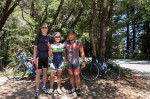Simon, Francesca & Jason at the top of Old LaHonda