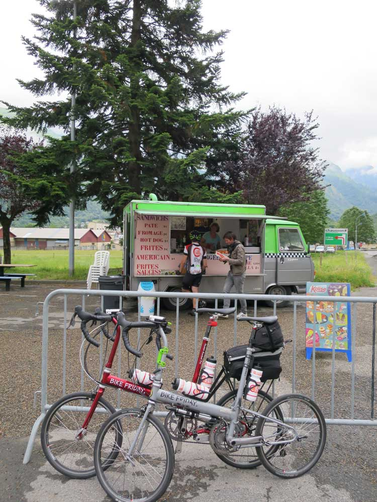 Our favorite food truck, near the base of the Tourmalet