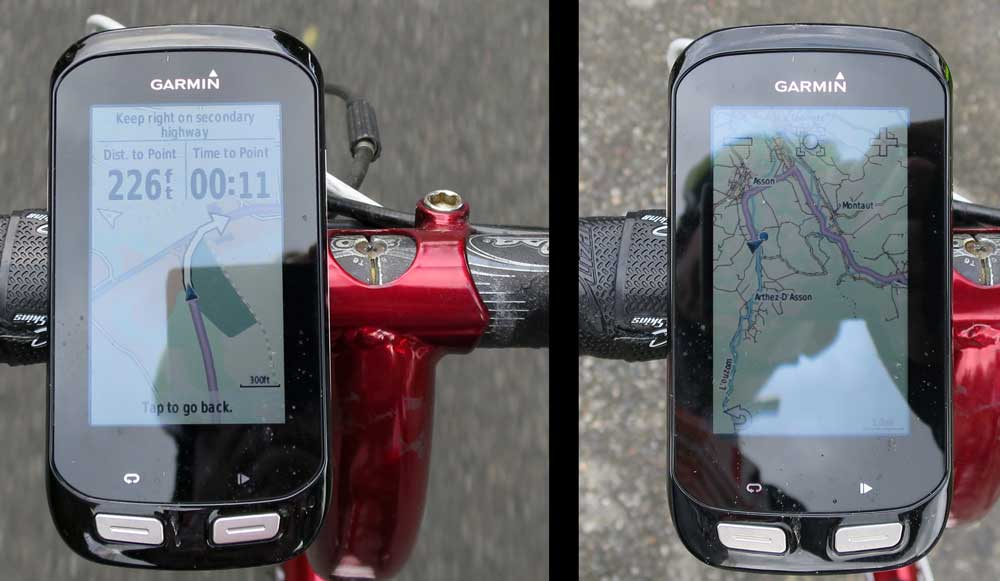 Why I love the Garmin Edge 1000. You can actually see what's on the screen!