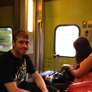 Comfy seating on the TGV due to ticket mixups (not ours)