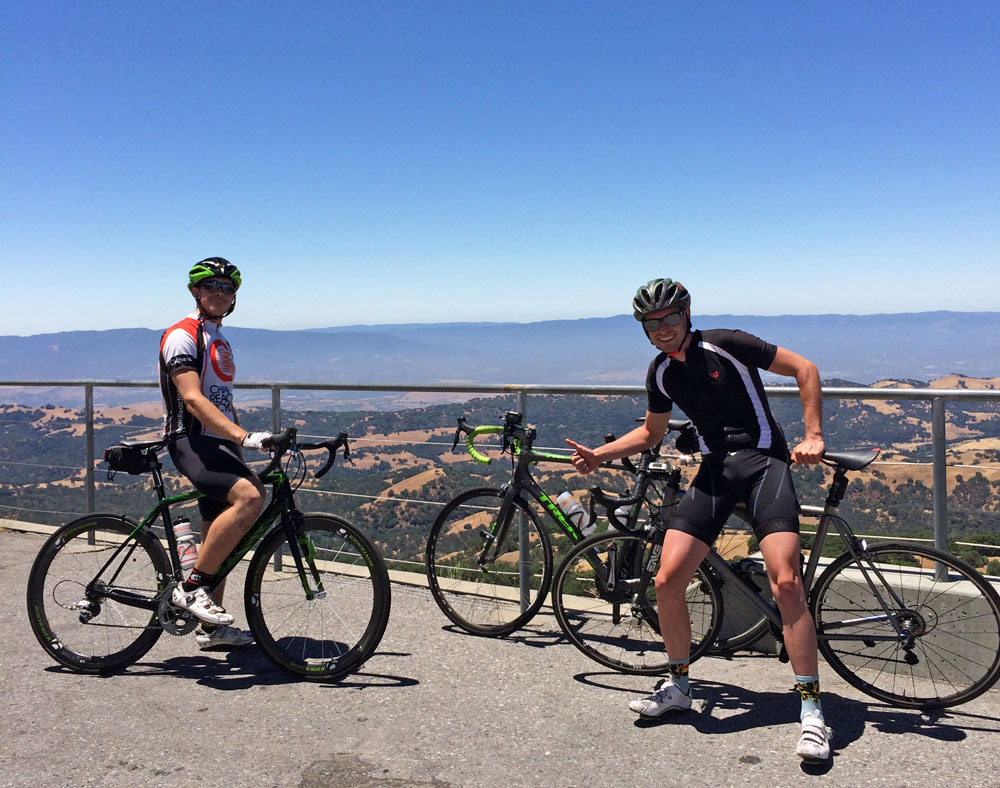 Kevin and Andrew at the top of Mount Hamilton