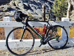 The maiden voyage of the bike I'm retiring, 10/25/09, on Ebbetts Pass