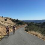 Riders heading up West Alpine