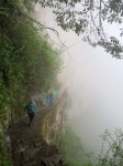 Literally lost in the fog on the way to the Inca Bridge