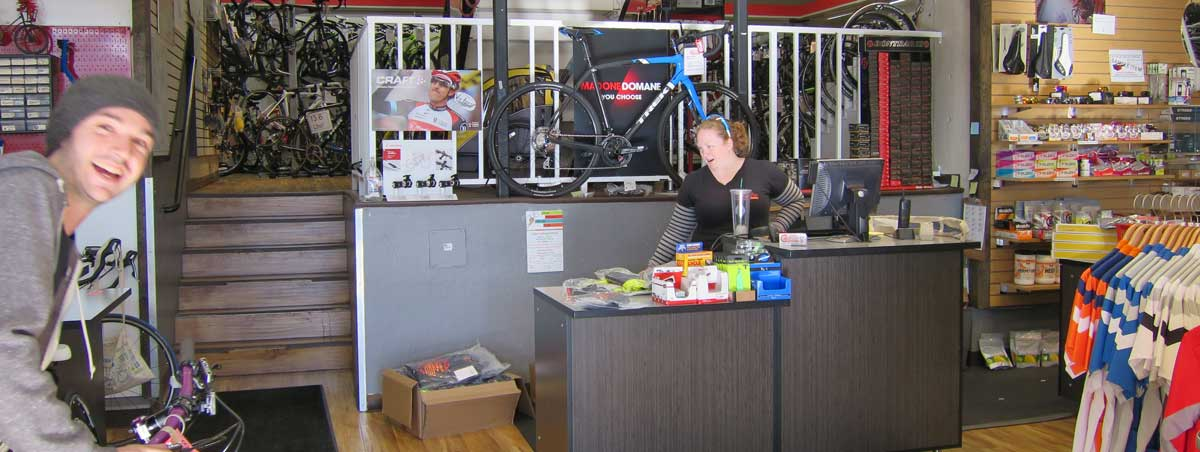 MikeF, RC Service Manager, going an awesome job photo-bombing my attempt to capture a day in the life of a bike shop.