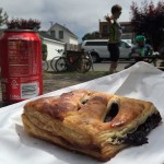 """Lunch"" in Pescadero. Coke and Olallieberry pastry. Yum!"