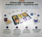 This is what showed in United's in-flight magazine- click for the details