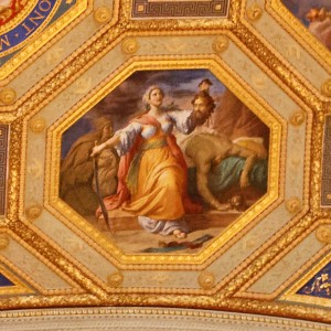 For the Game of Thrones fans, the Vatican museum's ceiling often paints a bloodier picture than the most gore-filled GOT episode.