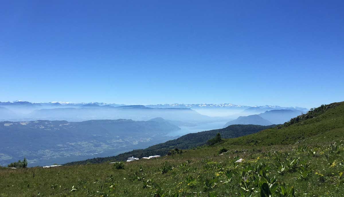View from the top of the Col du Grand Columbier