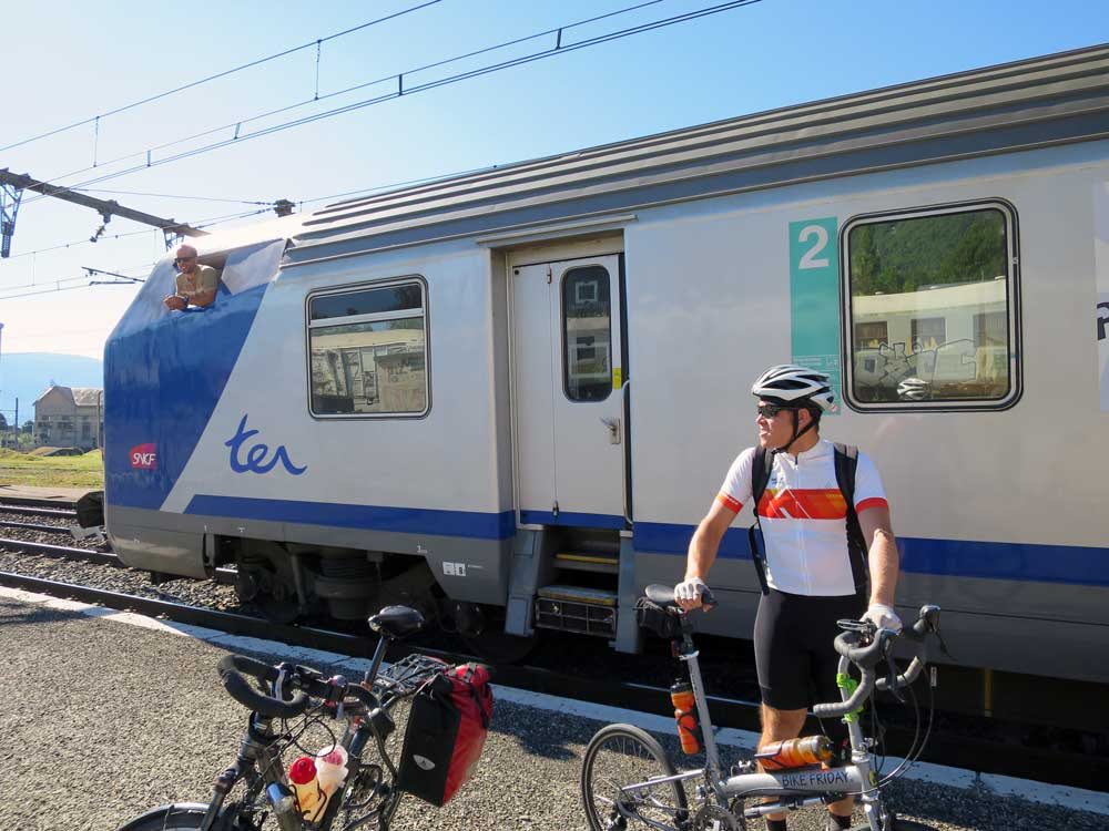 The SNCF TER train, our normal, infallible means of greatly extending our range in France. Infallible until today that is...
