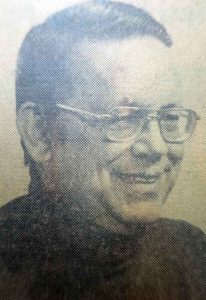 My dad, Ed Jacoubowsky, born June 14, 1931, died May 25, 1988. Old style newspaper photo for an old-style newspaper guy.