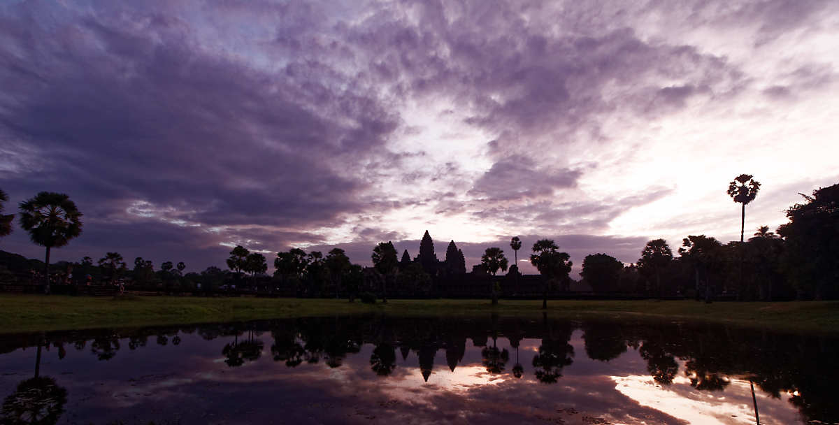 The iconic sunrise view of Angkor Wat. I've decided I'd rather specialize in sunset photos, where you don't have to get up at 4am. :-)